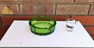 Vintage Green Glass Cigarette Ashtray Golden Grove Tea Tree Gully Area Preview