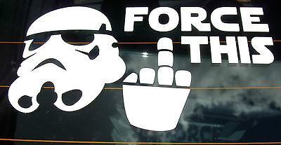Funny Star Wars Storm Trooper Bumper / Window Vinyl Adhesive Car Sticker Decal