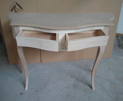 Konsole Kleiner Tisch Anschluss aus Holz mit 2 Schubladen Ripp - Provenzalisch