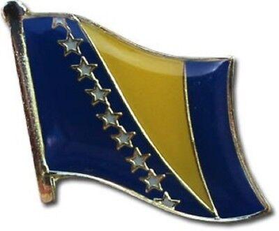 Wholesale Pack of 50 Bosnia Herzegovina Country Flag Bike Hat Cap lapel Pin