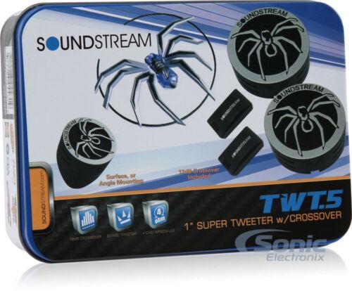 "SOUNDSTREAM TWT.5  1"" INCH CAR AUDIO TWEETERS PAIR 220W  NEW"