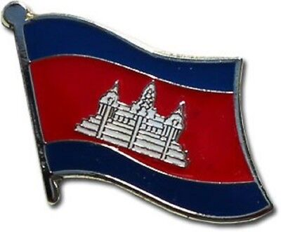 Wholesale Pack of 50 Cambodia Country Flag Bike Hat Cap lapel Pin