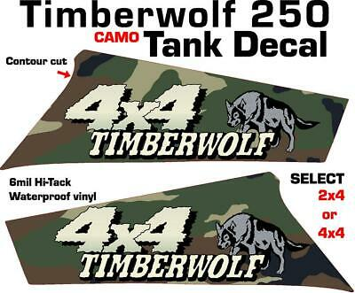 Yamaha Timberwolf 250 4x4 2x4 OEM Camo Tank side Plastic decal graphics sticker