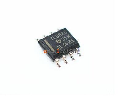 5pcs Tl082 Ic Ti Sop 8 Jfet-input Operational Amplifiers