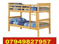 Cheapest New SINGLE WOODEN Bunk Bed WITH DEEP QUILTED Matrs