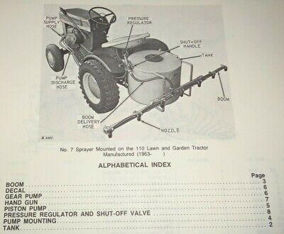 John Deere 7 Sprayer Parts Catalog Manual Original For 110 Garden Tractor 476