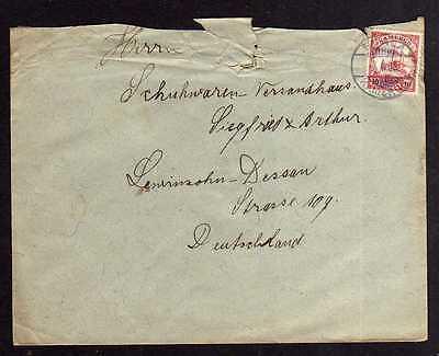 95542 Kamerun Bedarfsbrief Duala 1908 an Lewinson Schuhwaren Versandhaus Dessau