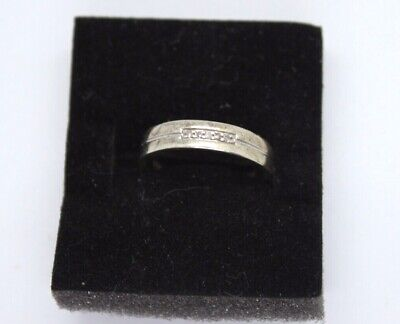 Vintage 9ct white gold Diamond 'I LOVE YOU' ring. Size M.