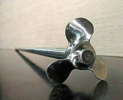 3-blade Ss Rounded Welded Agitator Mixer Propeller 34 X 44 Shaft 3 Prop