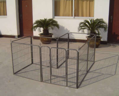8 Panel Heavy Duty Pet Dog Enclosure Exercise Pen 80cm/80cm
