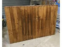 🦔 BROWN TANALISED FEATHER EDGE STRAIGHT TOP WOODEN GARDEN FENCE PANELS