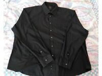 Mens Smart Black Long Sleeve Shirt 19 Regular.