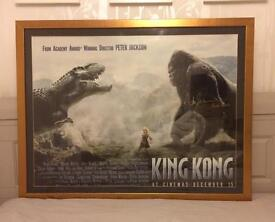 Large Framed King Kong Poster signed by Andy Serkis