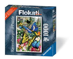 Ravensburger 16038 - Schmetterlinge der Welt - 1000 Teile Puzzle - Flokati Line