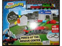 Fisher Price Thomas & Friends Adventure set - Percy at the Rescue Center, boxed.