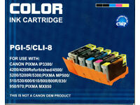 Canon Compatible Ink Cartridges PGI-5/CLI-8 FREE
