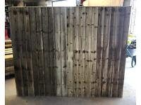 🌞 Tanalised Straight Top Wooden Garden Fence Panels