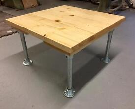 Scaffold & reclaimed wood coffee table
