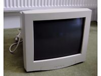 """Retro/Vintage 15.5 Inch (15.5"""") Acer CRT Computer Monitor *Not Working (Spares)"""
