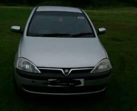 Vauxhall corsa mot and taxed