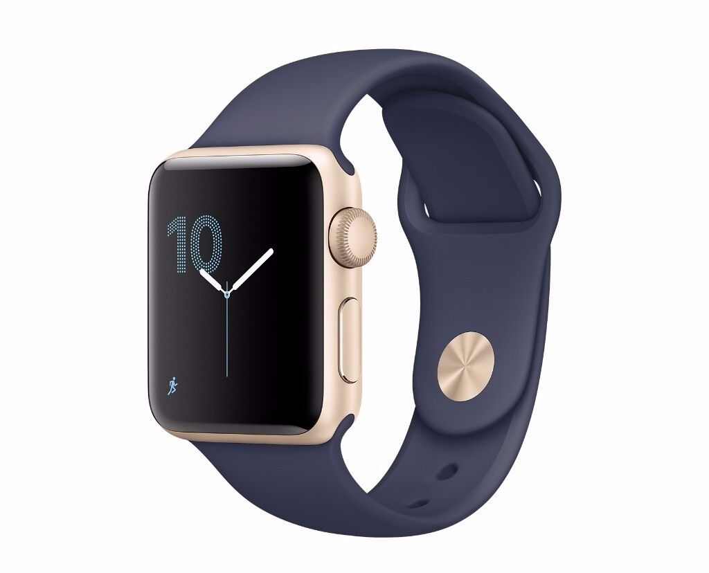 Apple watch, Midnight blue and Gold 42mm