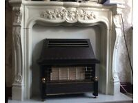 Marble fire place no chips or cracks like new