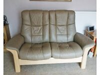 Stressless two seater Leather Recliner Sofa Hardly used Excellent condition