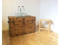 Vintage Slatted Travelling Trunk / Coffee Table / Storage Chest