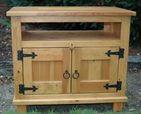 Pine TV Unit for sale. In reasonable condition with quick sale wanted.