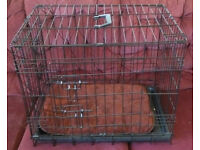 DOG / PET CAGE AND COVER. NEVER BEEN USED