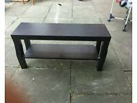 Ikea black small TV bench