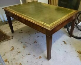 Vintage wooden, leather covered top desk / table, fantastic for home or office