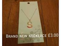 Brand New S Necklace from Asda