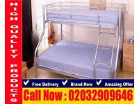 Bunk frame , bedding Double and single leicester