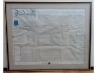INDENTURE framed of Southampton Upper Dover Street/Middle Street 1879 silver seal