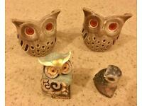 Owl Tea Light Candle Holders & Ornaments