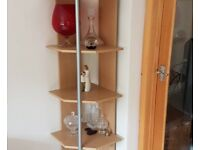 2 corner shelf units sold as a pair
