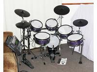 ROLAND *CUSTOM* TD-20 Purple Sparkle V-Drums kit, TDW-20 module AMAZING set