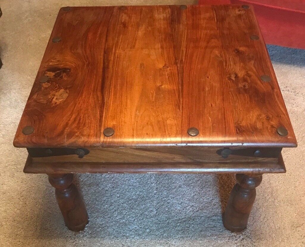 Square Wooden Coffee Table 60 X 40 Cm