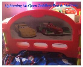 Lightening McQueen Toddlers Bed With Mattress