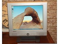 """Computer Monitor 17"""" LCD Monitor with Speaker and all cables"""