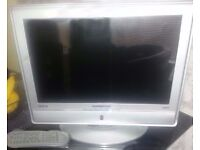 """19"""" DIGITAL HD-TV FREE-VIEW FLAT SCREEN TV HAS STAND OR CAN BE WALL MOUNTED"""