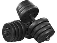 30kg Weight Dumbbells Barbell - NEW BOXED