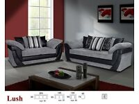 Grey Fabric Sofa Lush 3 plus 2 new and boxed
