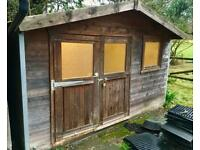 LARGE GARDEN SHED / WORKSHOP / SUMMER HOUSE Outdoor Wood Cabin Wooden Double Doors Timber