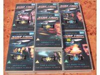 7 STAR TREK NEXT GENERATION - VHS TV Movies