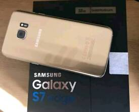 Samsung S7 Edge Gold in A+ condition