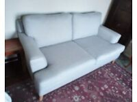 Two JOHN LEWIS Sofas in PRISTINE CONDITION: Colour - Steel Blue/Grey