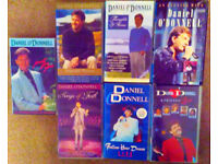 7 X DANIEL O'DONNELL VHS video tapes, all store-bought, excellent condition, one careful owner