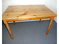 Solid Pine Kitchen Table, Dining Table, Work Table